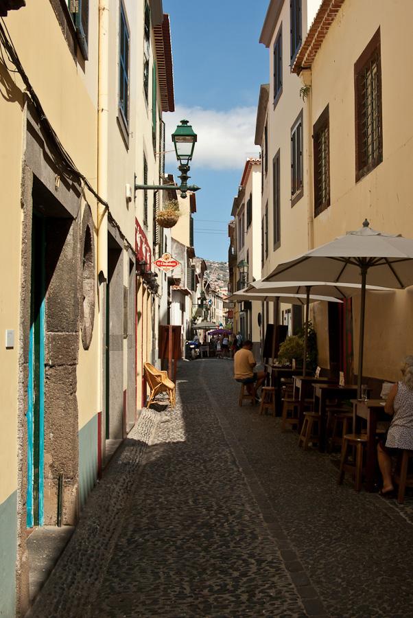 Funchal, typische Strassen von alte Stadt