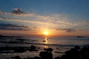Verschiedene Momente des Sonnenaufgangs