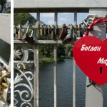Tight the locks at the bridges, thus securing eternal love: a tradition for couples in love