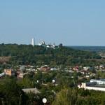 View from Rotonda towards landscape and monastery