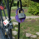 And again, the locks on the bridge