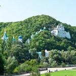 Svyatogorsk Lavra on the chalk hills