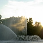 Vinnytsa city, the famous water show