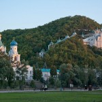 Svyatogorsk Lavra in the sunset