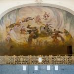 Beeindruckende Malerei in der Kolonnade