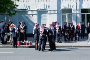 Während des Wartens auf die Parade