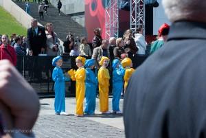Tanzgruppe in MiniFormat