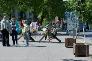 Institutskaia Str. hier waren die töfliche Schüsse gefallen