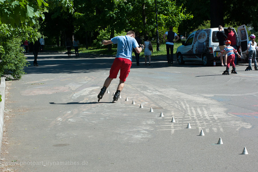 Im Park, Inline-Skater