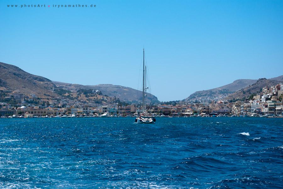 """Ausflug mit dem Boot """"Katarina"""" zwischen drei Inseln. Griechenland"""