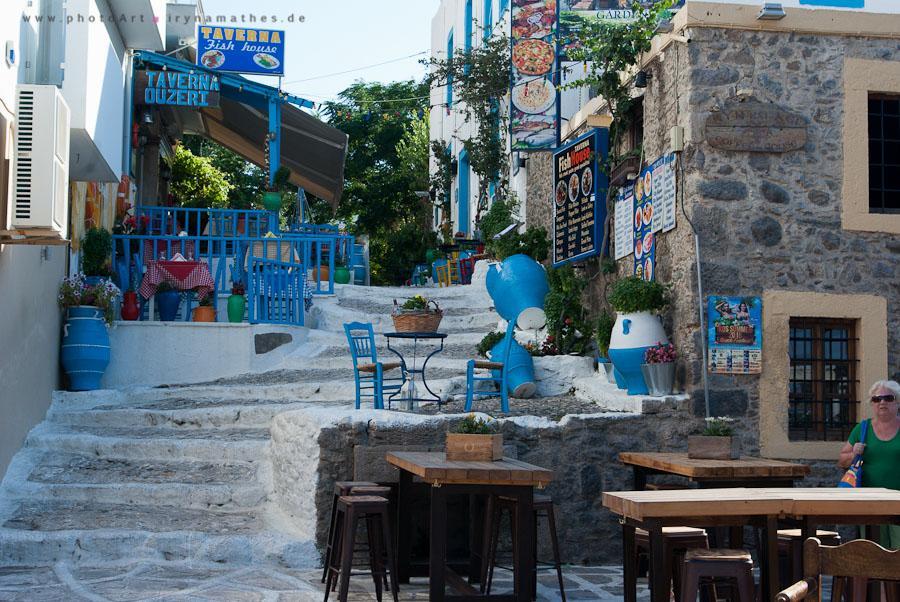 In der Stadt Kos, malerisches Restaurant