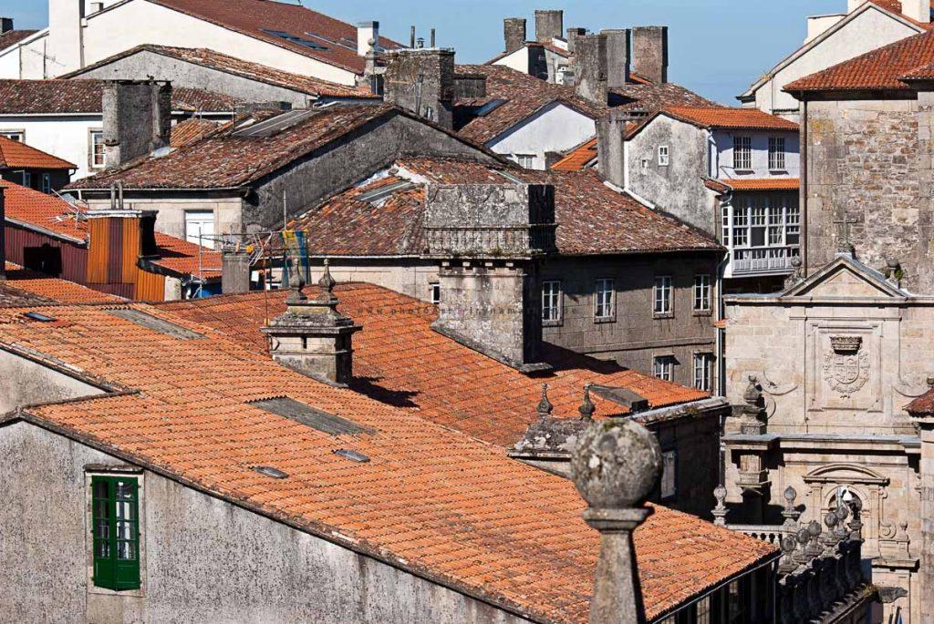 Dächer. Blick von der Kathedrale über die Stadt