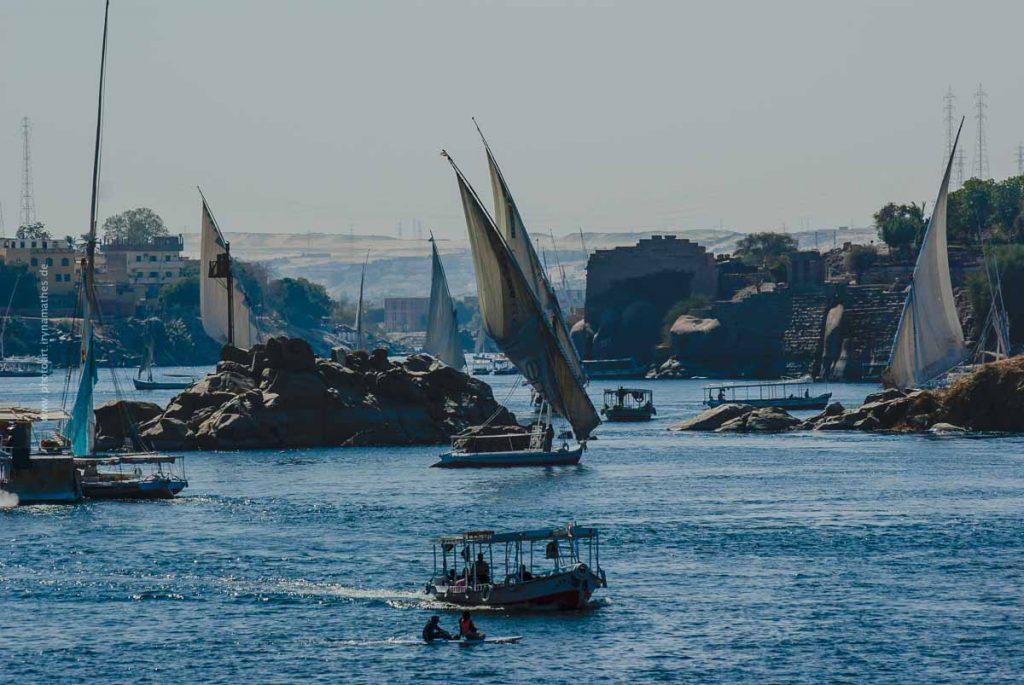 Assuan, Nil, Ägypten. Reise photography