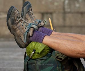 Die Füße von Santiago