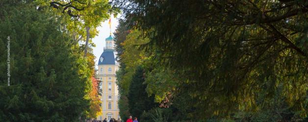 Im Schlossgarten Karlsruhe an einem Herbsttag